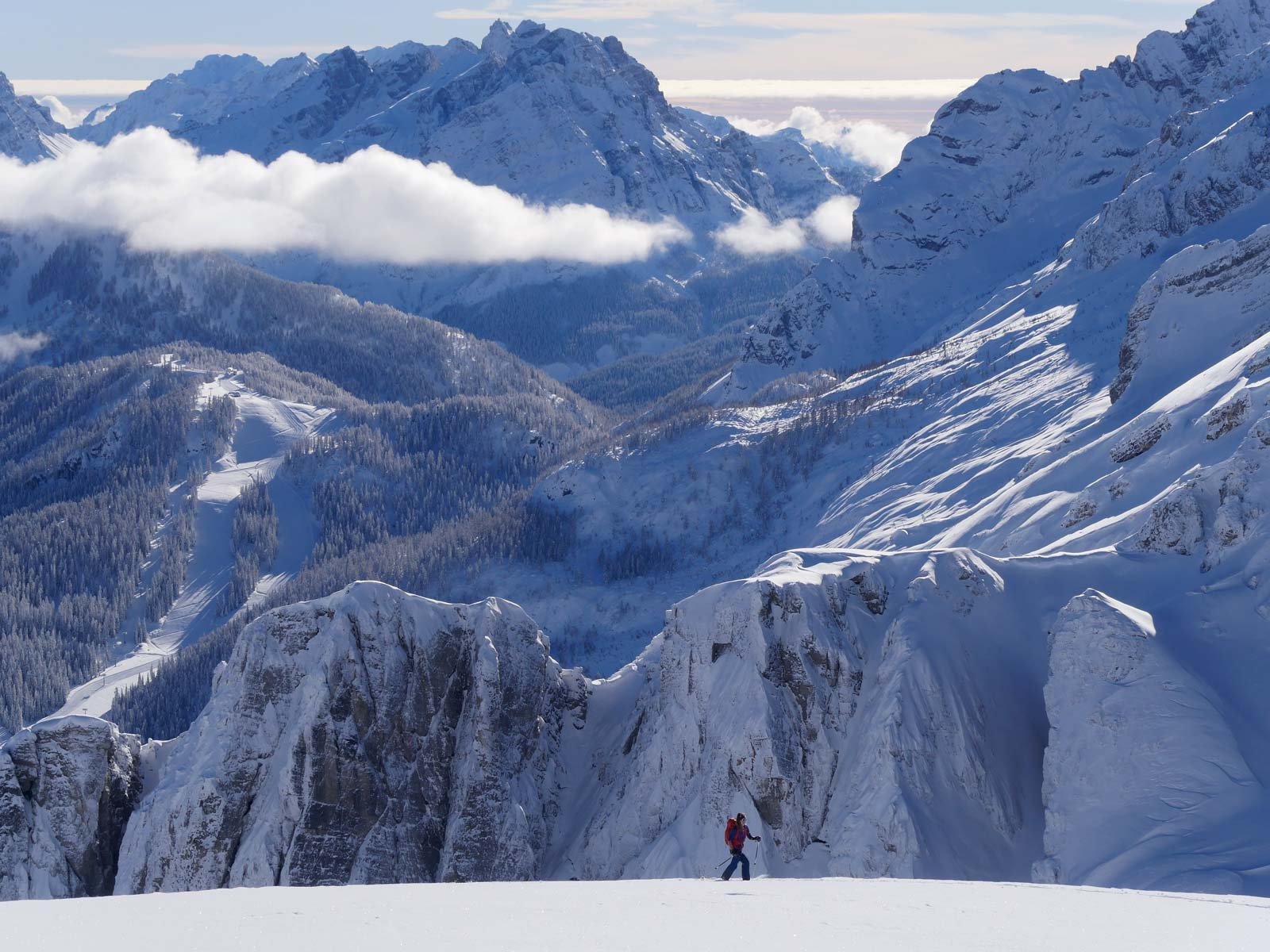 scialpinismo Dolomiti corso